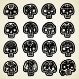 Vector Skulls set Royalty Free Stock Image