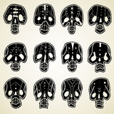 Vector Skulls set Stock Photography