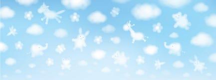 Vector sky background. Stock Photos