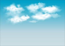 Vector sky. Blue sky with cloud closeup Stock Image