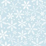 Sky Blue and white snowflakes vector illustration