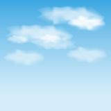 Vector sky and clouds Stock Images