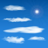 Vector sky elements set. Eps10 Royalty Free Stock Photos