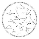 Vector sky map with constellations Stock Images