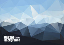 Vector Sky and Triangles Background. Futuristic Technology Background. Royalty Free Stock Images