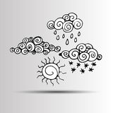 Vector sky weather background climate nature rain Royalty Free Stock Photo