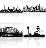 Vector Skylines Royalty Free Stock Photos