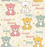 Vector sleeping bear Stock Photos