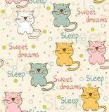 Vector sleeping cat Stock Photos