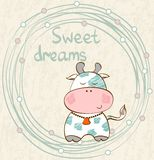 Vector sleeping cow Royalty Free Stock Photo