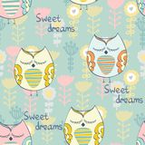 Vector Sleeping owl Royalty Free Stock Images