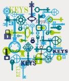 Vector sleutels royalty-vrije illustratie