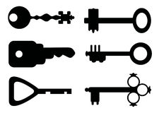 Vector sleutels Stock Afbeeldingen