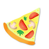 Vector slice of pizza Stock Image