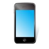 Vector slimme telefoon Stock Foto's