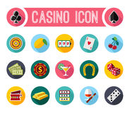 Vector slot machine symbols set Stock Photos