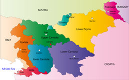 Vector Slovena map Stock Photos