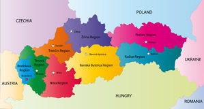Vector Slowakei-Karte