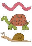 Vector slowly animals Royalty Free Stock Photos