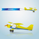 Vector small airplane eps10 Stock Images