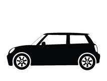 Vector small car 2. Silhouette small car, vector illustration Stock Images
