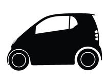 Vector small car. Silhouette small car, vector illustration Royalty Free Stock Image