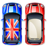Vector small cars. Royalty Free Stock Images