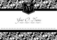 Vector Small Title Frame. And Pattern Royalty Free Stock Images