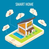 Vector smart home concept isometric illustration Stock Photography