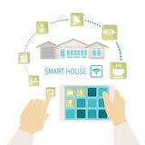 Vector smart house concept. Royalty Free Stock Image