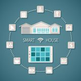 Vector smart house concept. Royalty Free Stock Photography