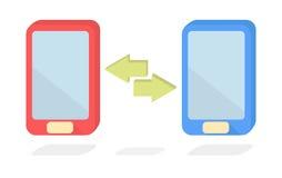 Vector smart phone data transfer Stock Images
