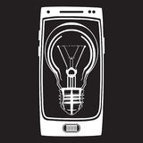Vector smart phone idea icon in flat style Royalty Free Stock Photos