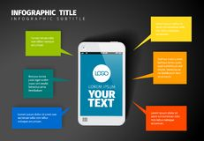 Vector smart phone infographic template stock illustration
