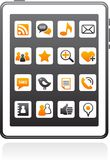 Vector smart phone social media icons Stock Image