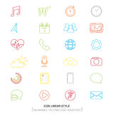 Vector : Smart watch function icons,Wearable Technology Royalty Free Stock Photography