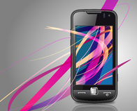 Vector smartphone&Vector smartphone Stockfotos