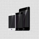 Vector smartphone ant tablet collection isolated on transparent background. Stock Photos