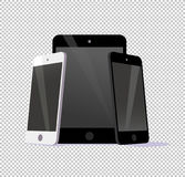 Vector smartphone ant tablet collection isolated on transparent background. Royalty Free Stock Image