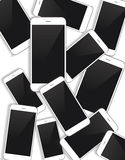 Vector smartphone background Royalty Free Stock Image