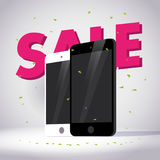 Vector smartphone collection isolated on white background. Stock Image