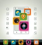 Vector smartphone icon Royalty Free Stock Images