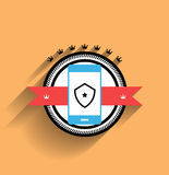 Vector smartphone icon flat design Royalty Free Stock Image