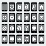 Vector smartphone icons. Vector   smartphone icons in 'flat' style Royalty Free Stock Photo