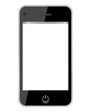 Vector smartphone. Illustration over white Stock Photography