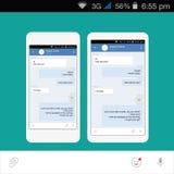 Vector Smartphone Redes sociales Foto de archivo