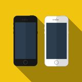 Vector smartphone similar to iphone, mockup. Royalty Free Stock Image