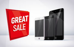Vector smartphone and tablet collection isolated on white background. Stock Images