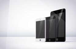 Vector smartphone and tablet collection isolated on white background. Royalty Free Stock Photography