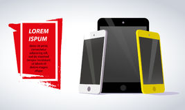Vector smartphone and tablet collection  on white background. Stock Photo